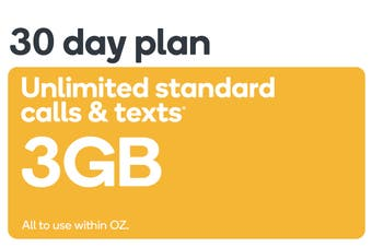 Kogan Mobile Prepaid Voucher Code: SMALL (30 Days | 3GB)