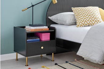 Matt Blatt Sao Paulo Bedside Table (Black)