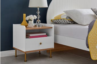 Matt Blatt Sao Paulo Bedside Table (White)