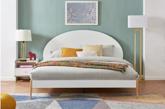 Matt Blatt Sao Paulo Bed Frame (White, King)