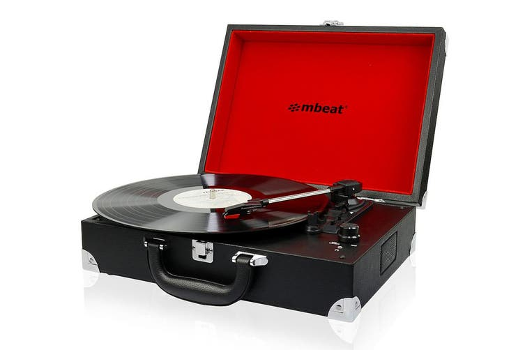 mbeat Retro Briefcase-styled USB Turntable Recorder (USB-TR88)