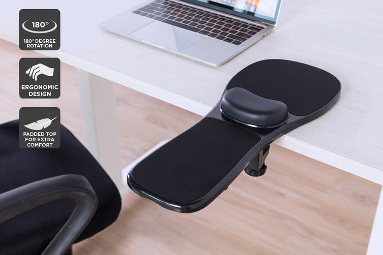 Rotatable Office Desk Armrest and Mouse Pad (Large)