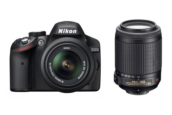 DSLR Cameras - Nikon D3200 DSLR Camera 18-55mm & 55-200mm Twin VR Lens Kit