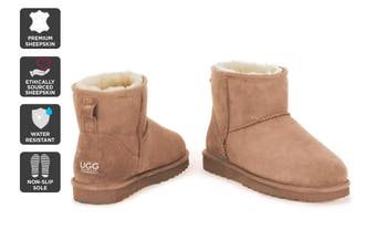 Outback Ugg Boots Mini Classic - Premium Double Face Sheepskin (Chestnut)