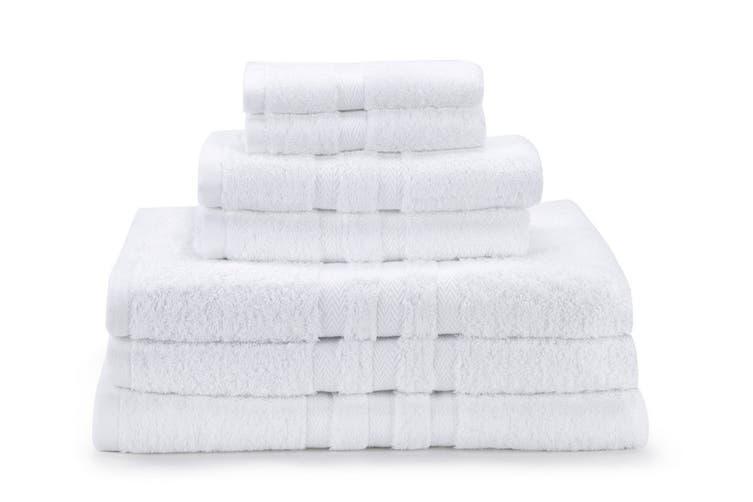 Ovela Set of 7 Egyptian Cotton Luxury Towels (White)