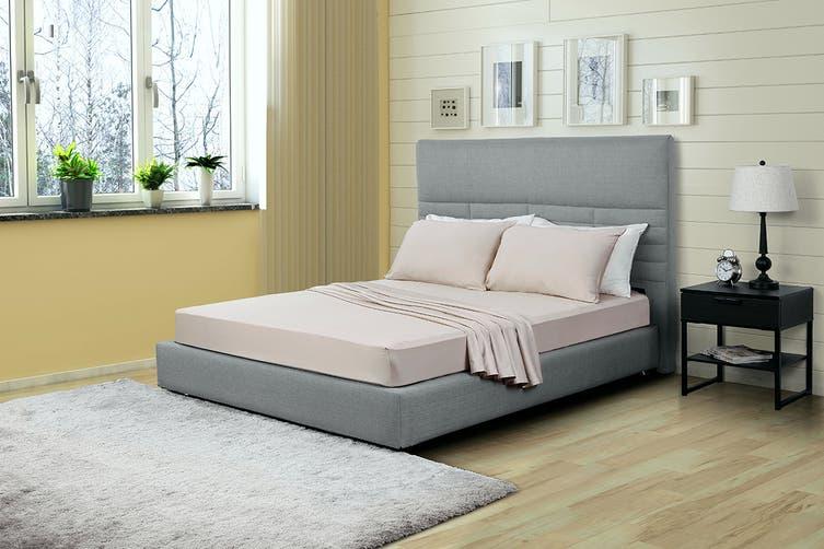 Ovela 100% Bamboo Bed Sheet Set (Queen, Beige)