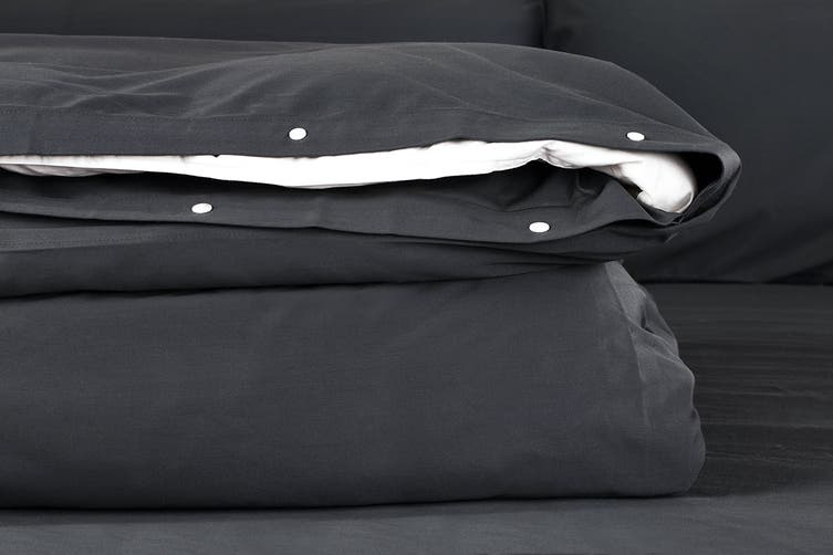 Ovela 100% Bamboo Quilt Cover Set (King, Charcoal)