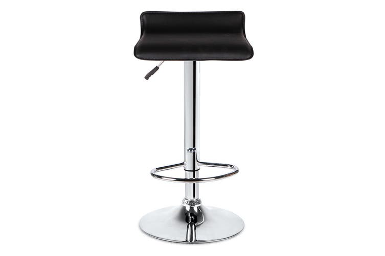 Ovela Set of 2 Flat Top Bar Stools (Black)