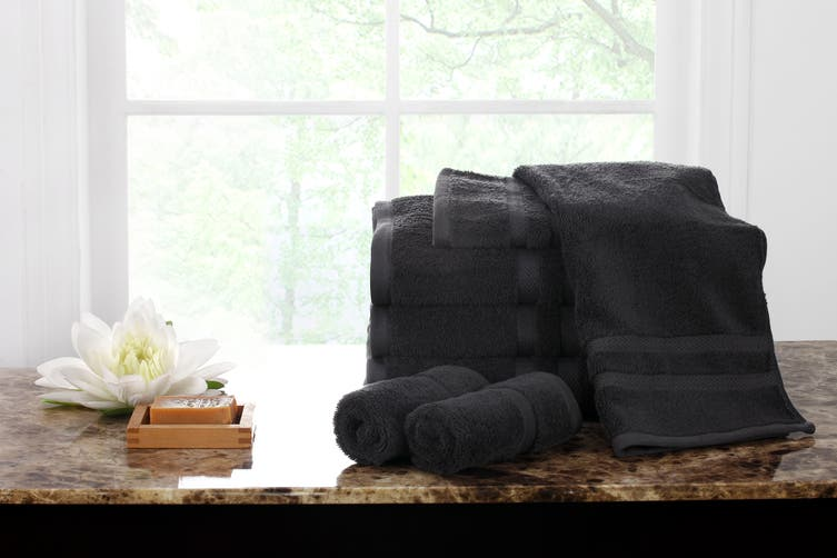 Ovela Set of 7 Egyptian Cotton Luxury Towels  (Granite)