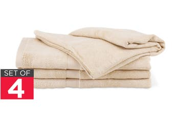 Ovela Set of 4 Bamboo Cotton Luxury Bath Sheets