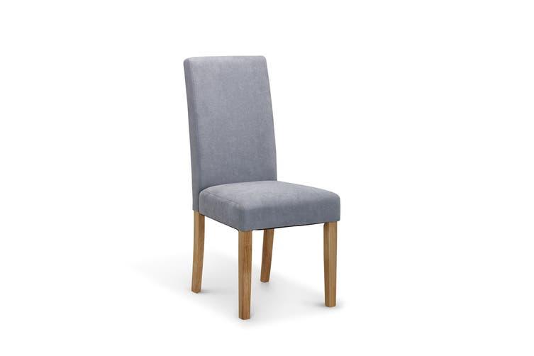 Ovela Set of 2 Kyran Fabric Dining Chairs (Ash Grey)