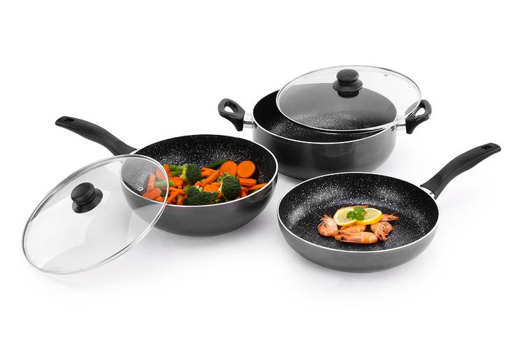Ovela 5 Piece BlackStone Non-Stick Induction Cookware Set