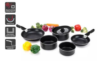 Ovela Moderno 8 Piece Stackable Non-stick Cookware Set