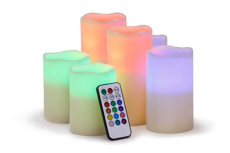 Ovela Set of 6 Colour Changing LED Candles