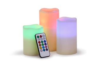 Ovela Set of 3 Colour Changing LED Candles
