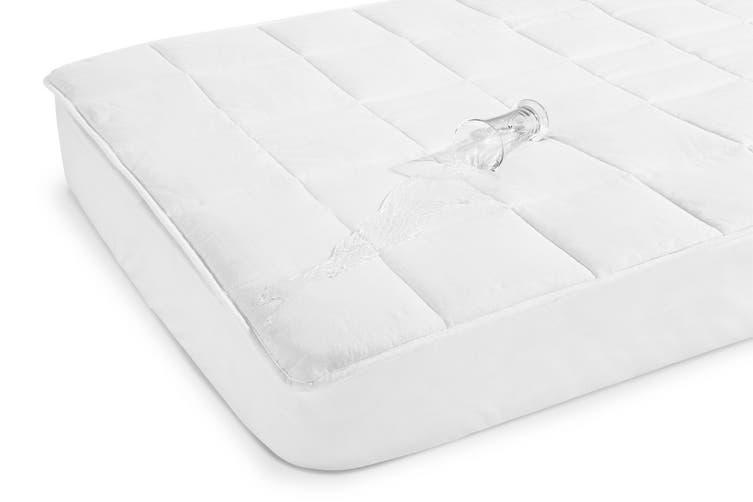 Ovela Waterproof Fitted Cotton Mattress Protector (Single)