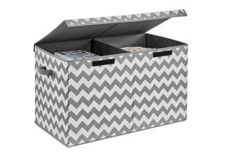 Ovela Felix Foldable Storage Box (Grey Chevron)