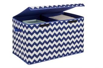 Ovela Felix Foldable Storage Box (Navy Chevron)