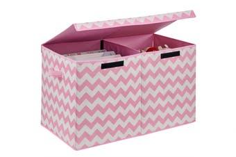 Ovela Felix Foldable Storage Box (Pink Chevron)
