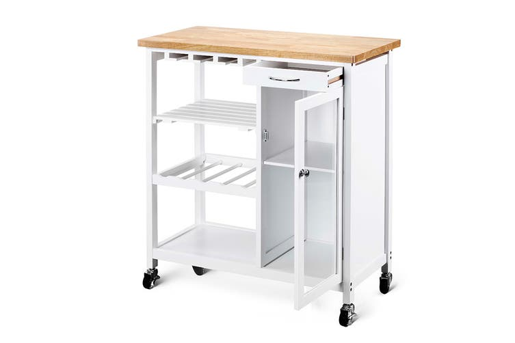Ovela Lanai Wooden Kitchen Trolley