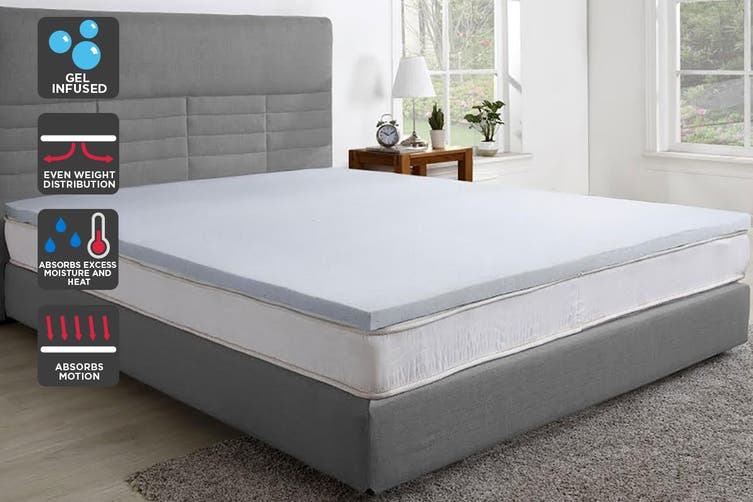 Trafalgar Gel Infused Memory Foam Mattress Topper with Bamboo Cover (Single)