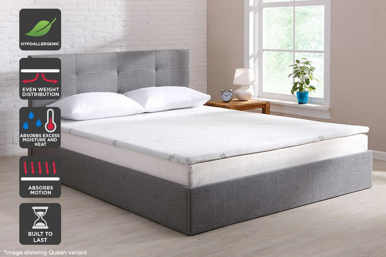 Ovela Bamboo Memory Foam Mattress Topper (Double)