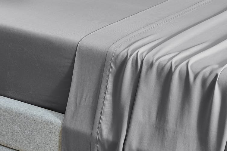Ovela 100% Natural Bamboo Bed Sheet Set (Double, Silver)