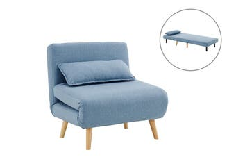 Ovela Jepson Convertible Lounge Chair and Bed (Denim Blue)