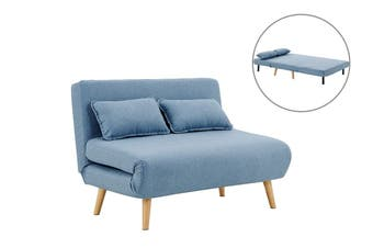 Ovela Jepson 2 Seater Sofa Bed (Denim Blue)