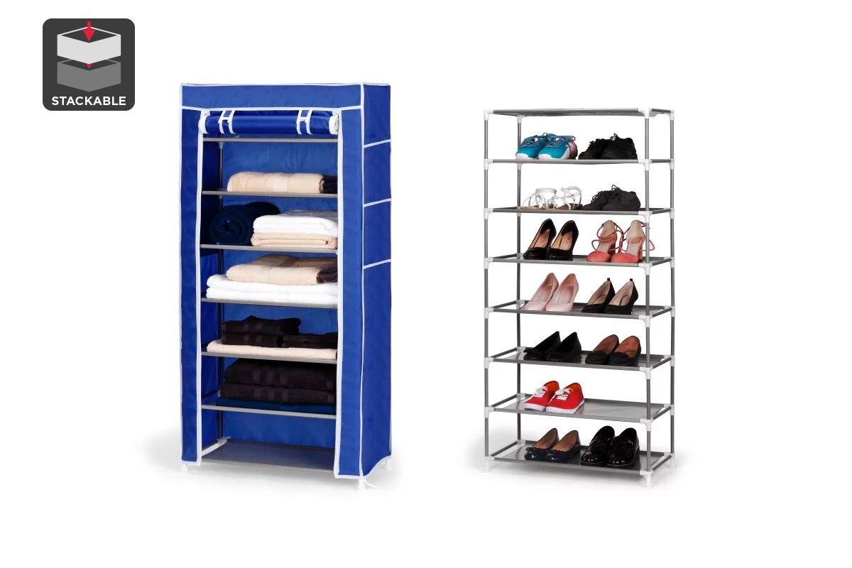 stackable shoe rack maidmax 5tier metal shoe storage tower o