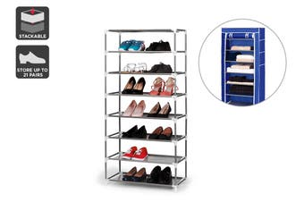 Ovela Stackable Shoe Rack and Storage Wardrobe