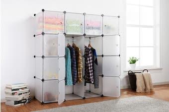 Ovela 16 Cube Modular Storage Organiser (White)