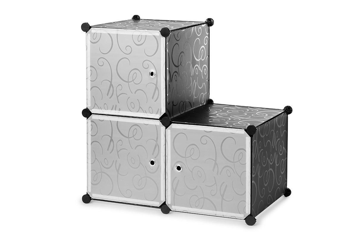 Ovela 3 Cube Modular Storage Organiser (Black)
