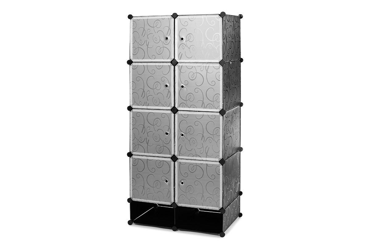 Ovela 8 Cube Modular Storage Organiser (Black)