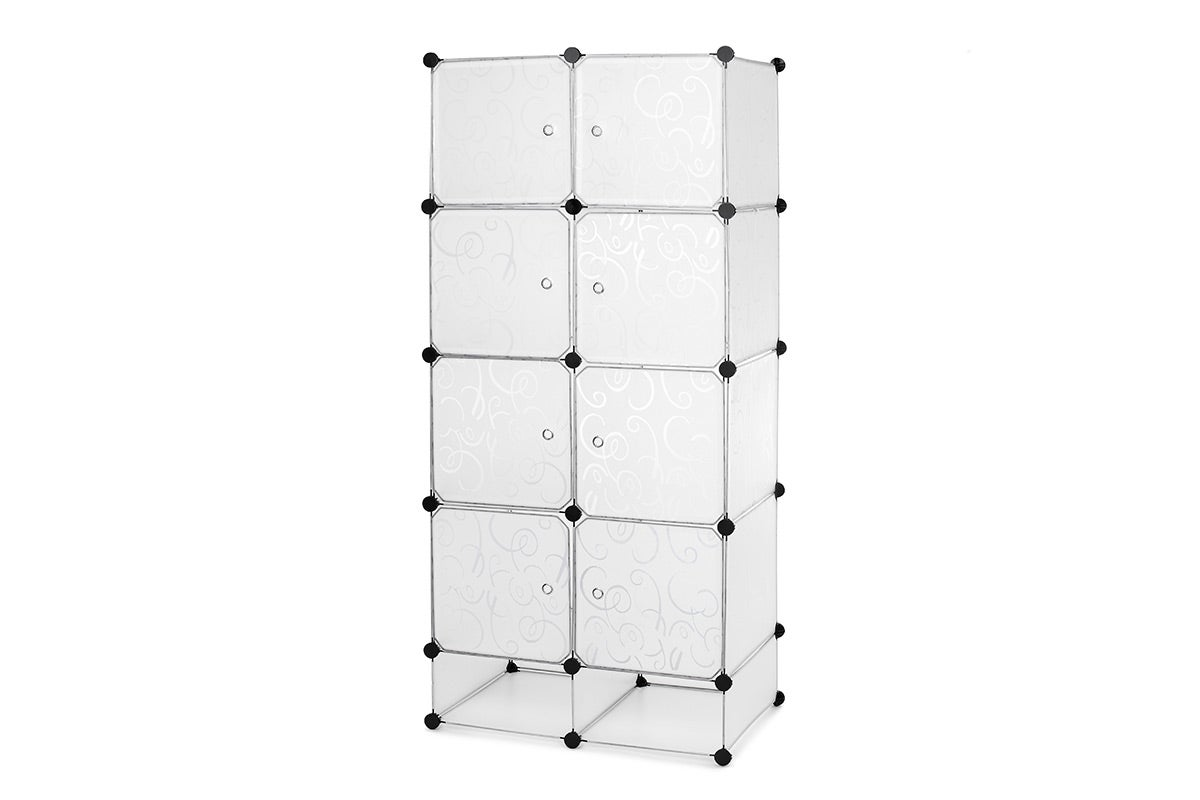 Ovela 8 Cube Modular Storage Organiser (White)