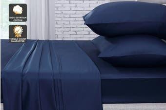 Ovela 1000TC 100% Egyptian Cotton Bed Sheet Set (King, Indigo)