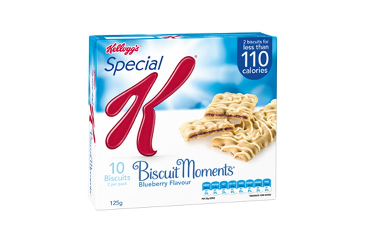 Food Bargains - Kelloggs Special K Biscuit Moments Blueberry Flavour 5pk 125g
