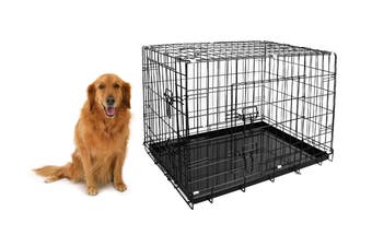 "Pawever Pets 42"" Collapsible Metal Dog Playpen / Crate"