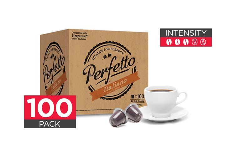 100 Pack Perfetto Nespresso Compatible Coffee Pods (Italiano)
