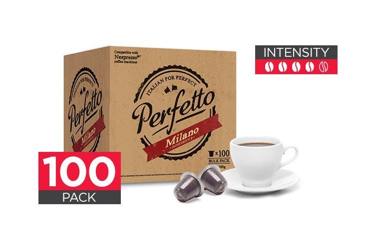 100 Pack Perfetto Nespresso Compatible Coffee Pods (Milano)