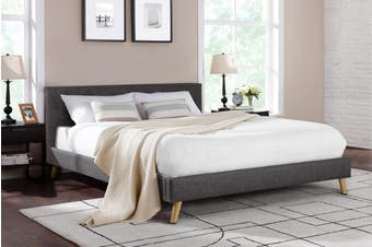 Shangri-La Bed Frame - Como Collection (Dark Grey, Queen)