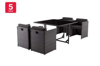 Shangri-La Carina 5 Piece Outdoor Furniture Lounge Set