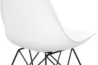 Shangri-La Set of 2 DSR Dining Chairs - Eames Replica (White/Black)