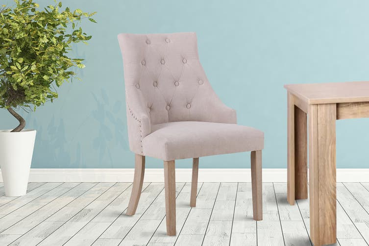 Shangri-La Set of 6 French Provincial Allete Dining Chairs (Beige)
