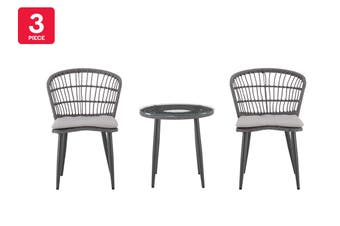 Shangri-La Newport 3 Piece Outdoor Furniture Balcony Set