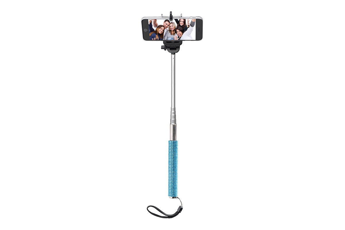 Tripods & Mounts - Bling Selfie Stick with Bluetooth Remote (Blue)