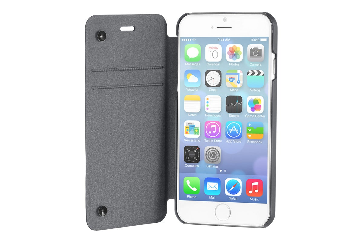 Cases - STM Flip Cover for iPhone 6 Plus (Charcoal)