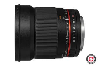 Refurbished Samyang 16mm f/2.0 ED AS UMC CS Lens (Sony A-Mount)