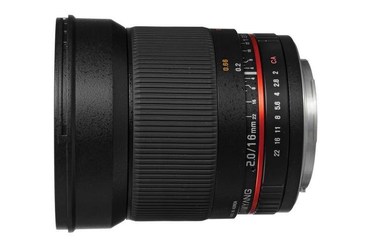 Samyang 16mm f/2.0 ED AS UMC CS Lens (Sony A-Mount)