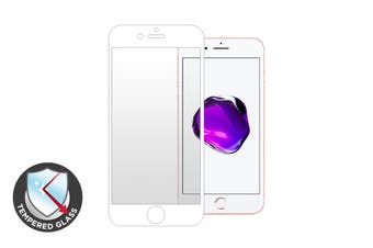 Premium Tempered Glass Screen Protector for iPhone 7 Plus (White)